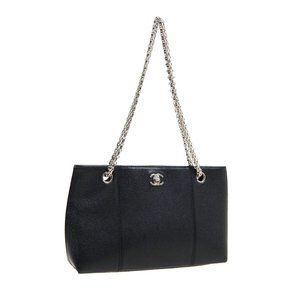 CHANEL Timeless Classics Double Chain Shoulder Tot